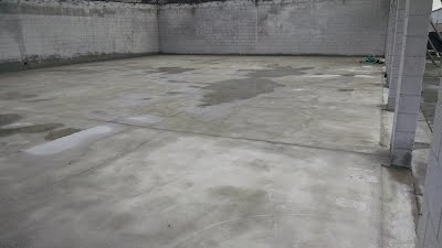 Concrete and Cinderblock After Firedamage Cleaning