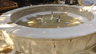 Concrete Fountain After Blast